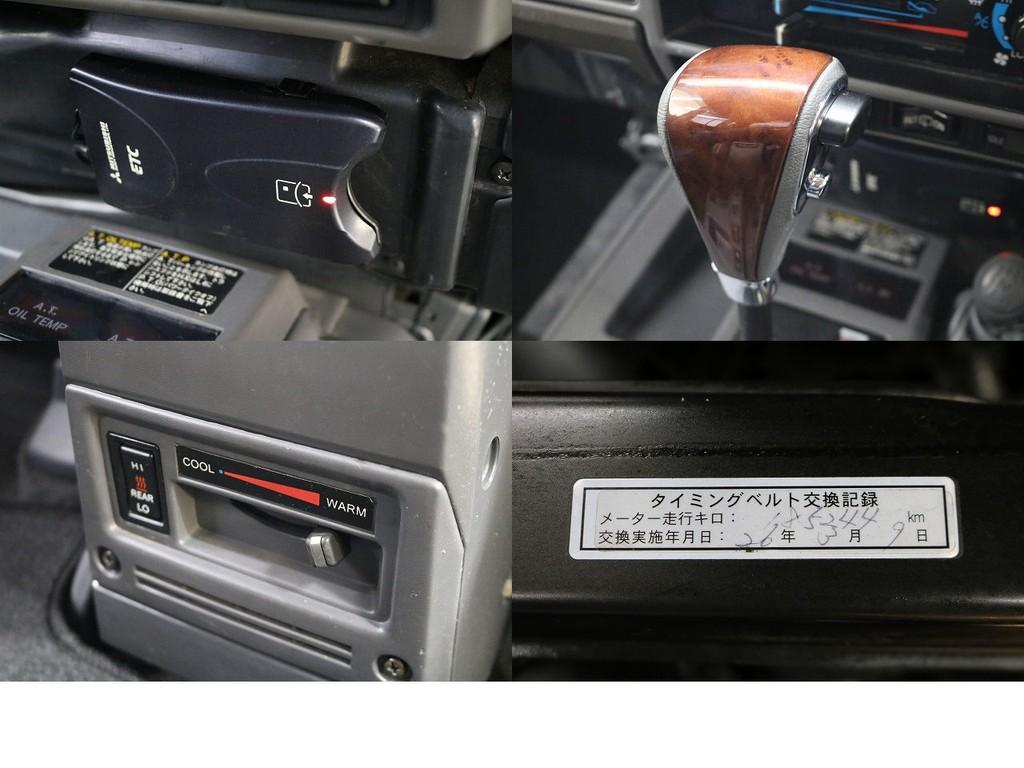 ETC☆新品ウッドシフトノブ☆リアヒーター☆2回目タイベル交換済み☆