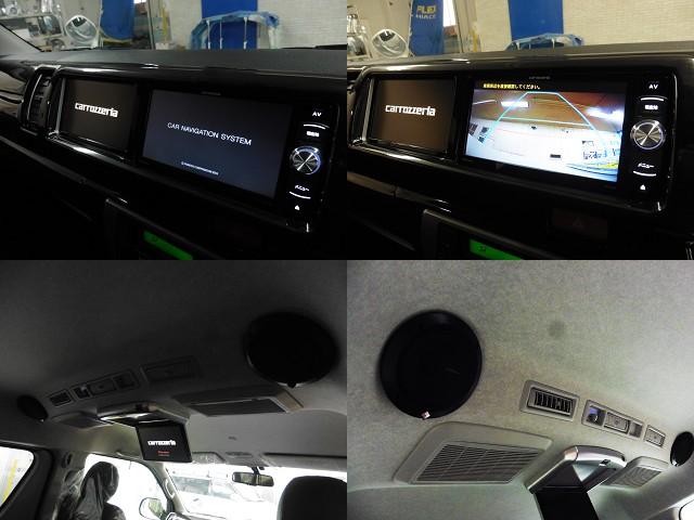 トリプルナビをインストール!(フルセグ/SD/後部座席用モニター/サブモニター/録音/バックカメラ連動/DVD) | トヨタ ハイエースバン 2.7 スーパーGL ワイド ロング ミドルルーフ 10人乗り