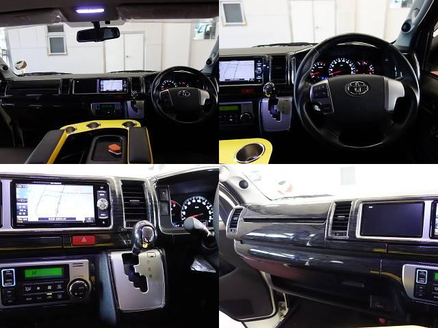 黒木目コンビハンドル、シフトノブ、インテリアパネルKIT装着済み!! | トヨタ ハイエース 2.7 GL ロング ミドルルーフ 試乗車