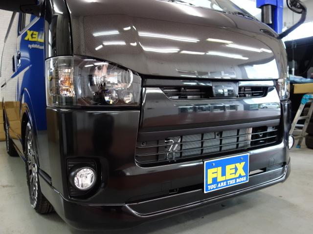 415コブラカーボンボンネット装備!! | トヨタ ハイエースバン 2.0 スーパーGL ロング ダークプライム