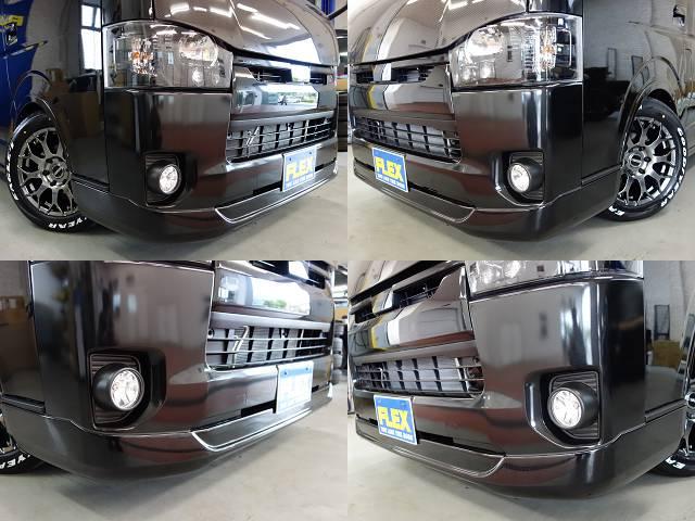 ESSEXフロントスポイラー装着済み!! | トヨタ ハイエースバン 2.0 スーパーGL ロング ダークプライム