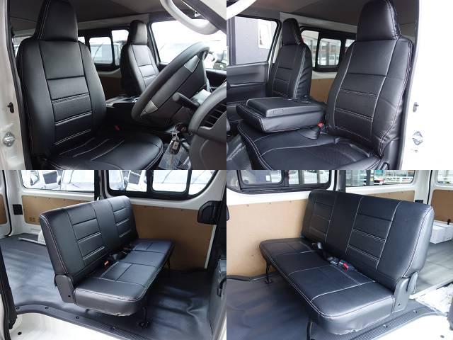 全席シートカバー装着済み!! | トヨタ ハイエースバン 2.0 DX ロング スポーツパッケージTSS付