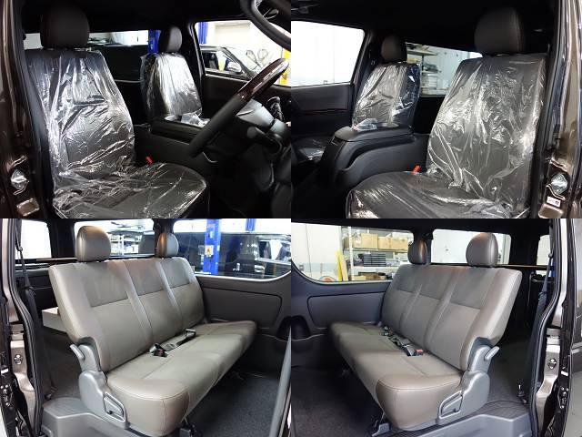 専用のハーフレザーシート装備!! | トヨタ ハイエースバン 2.0 スーパーGL 50TH アニバーサリー リミテッド ロングボディ