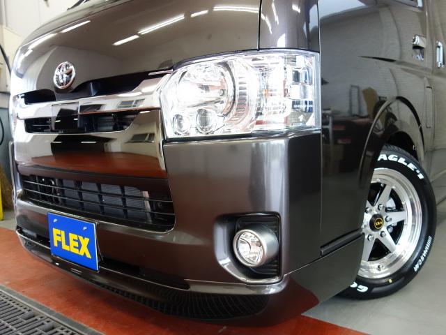 415コブラフロントスポイラー装着済み!! | トヨタ ハイエースバン 2.0 スーパーGL 50TH アニバーサリー リミテッド ロングボディ