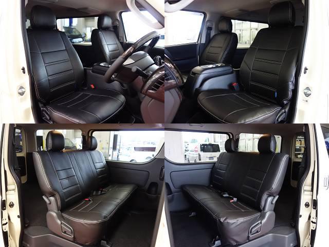全席オリジナルシートカバー装着済み!! | トヨタ ハイエースバン 2.8 スーパーGL ロング ディーゼルターボ ライトイエローナビパッケージ