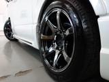 新車ハイエースVダークプライムⅡバックナインフルエアロKIT完成致しました!!店頭在庫車、即納車可能になります!!