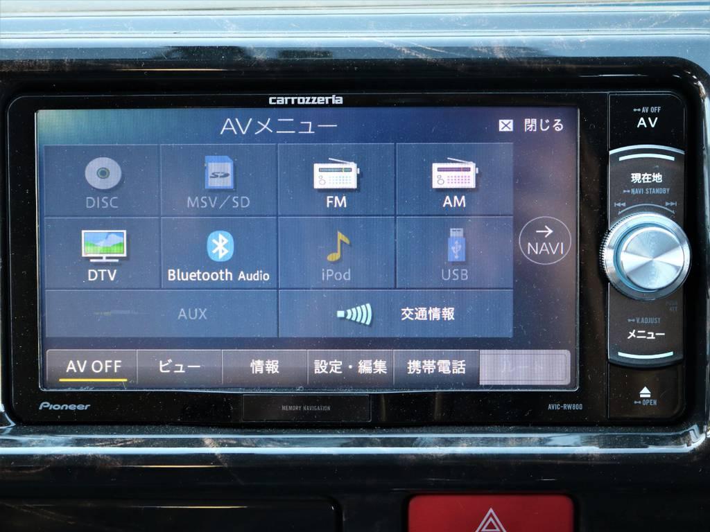 フルセグTV対応!ブルートゥースで音楽も聴けます!   トヨタ ハイエース 2.7 GL ロング ミドルルーフ 4WD Wild STYLE WAGON