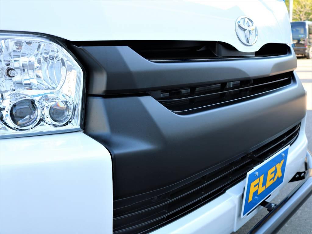 フロントグリル マッドブラック塗装!   トヨタ ハイエース 2.7 GL ロング ミドルルーフ 4WD Wild STYLE WAGON