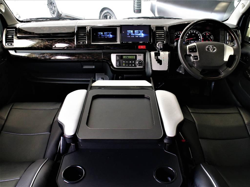 インテリアパネル! インテリアシフトノブ! インテリアコンビステアリング! クラフトプラス製コンソールボックス! | トヨタ ハイエース 2.7 GL ロング ミドルルーフ