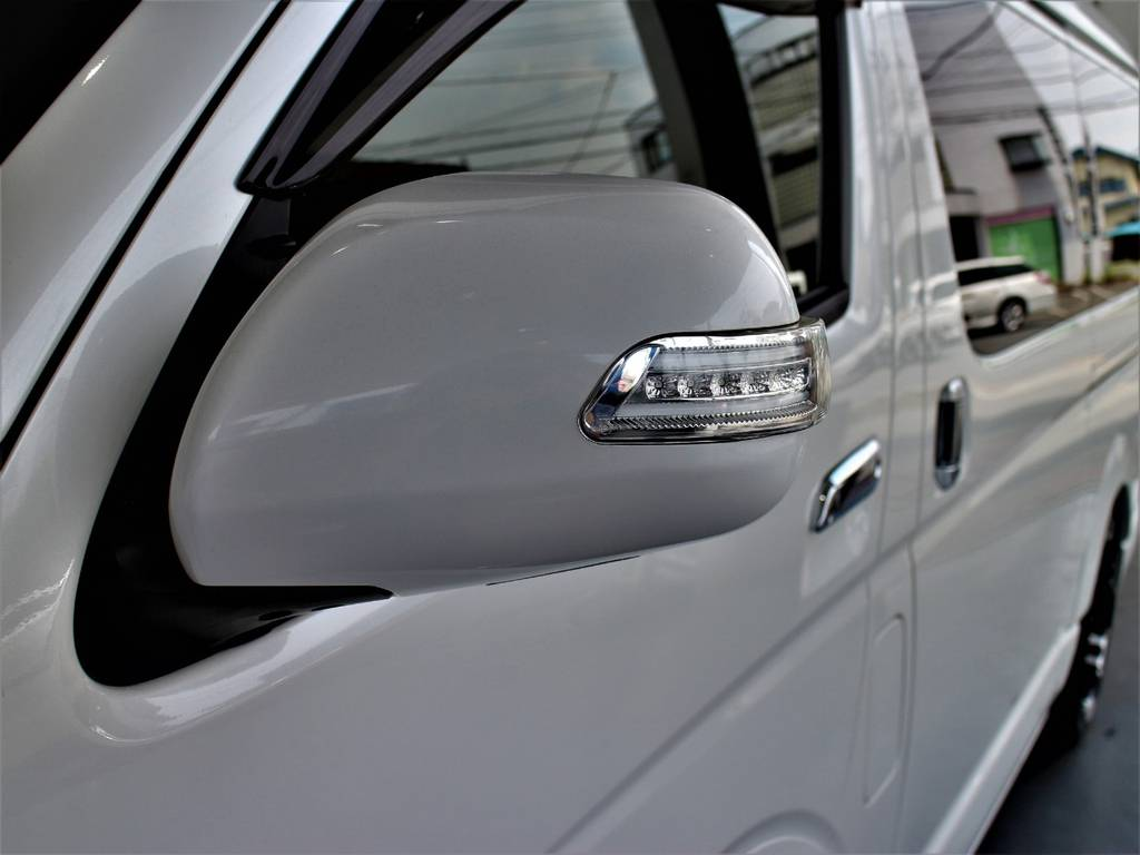 ケースペックスタイリッシュミラー! | トヨタ ハイエース 2.7 GL ロング ミドルルーフ
