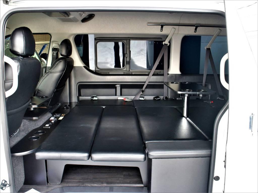 車中泊仕様(10人乗り)! 専用テーブル! | トヨタ ハイエース 2.7 GL ロング ミドルルーフ