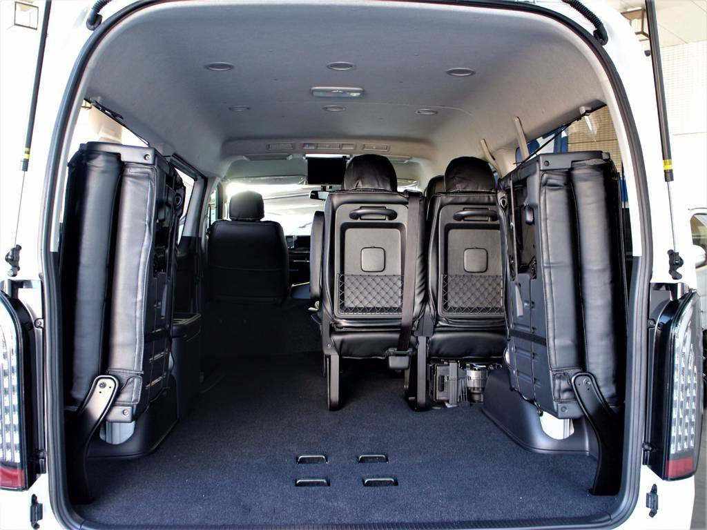 ハイエースならではのラゲッジスペース!! | トヨタ ハイエース 2.7 GL ロング ミドルルーフ 4WD サイドオーニング