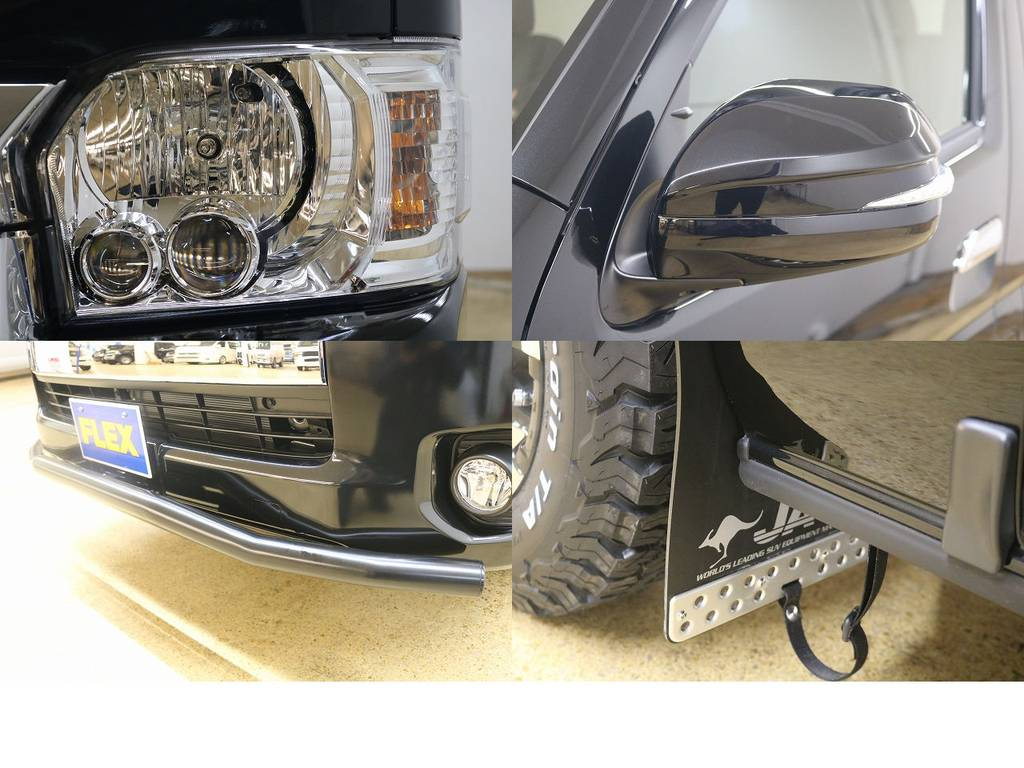 ウインカーミラー付き!!   トヨタ ハイエース 2.7 GL ロング ミドルルーフ 4WD サイドオーニング