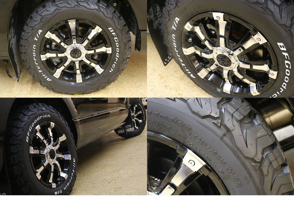足元には、クリムゾンアルミホイール! | トヨタ ハイエース 2.7 GL ロング ミドルルーフ 4WD サイドオーニング
