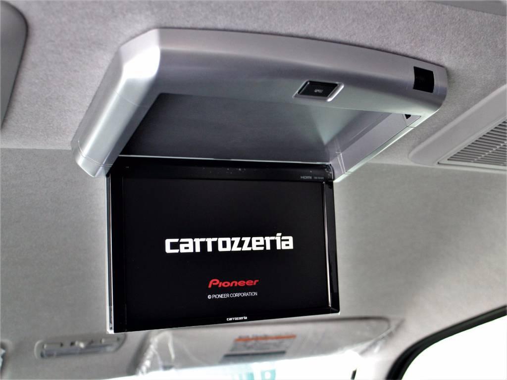 お子様に大人気フリップダウンモニター! | トヨタ ハイエース 2.7 GL ロング ミドルルーフ 4WD サイドオーニング