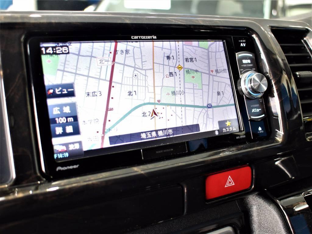 フルセグナビ!   トヨタ ハイエース 2.7 GL ロング ミドルルーフ 4WD サイドオーニング