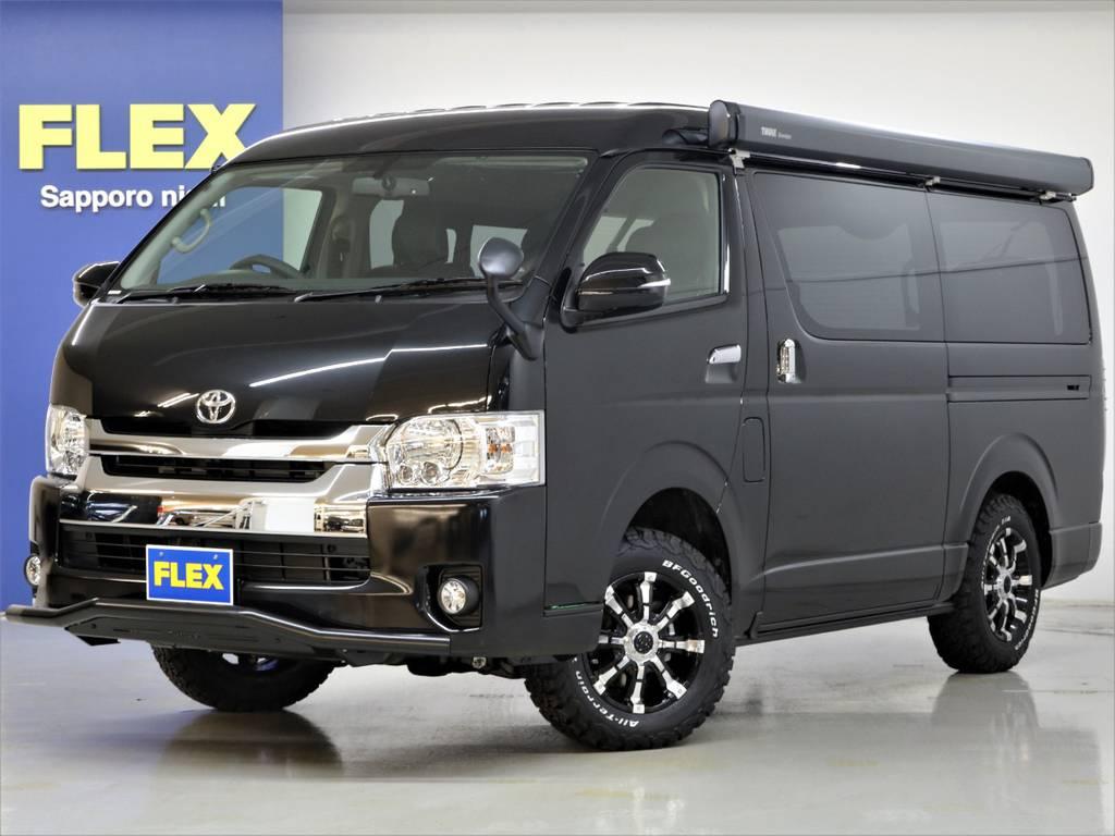 お問い合わせは、ハイエース札幌西店011-213-7955まで!   トヨタ ハイエース 2.7 GL ロング ミドルルーフ 4WD サイドオーニング