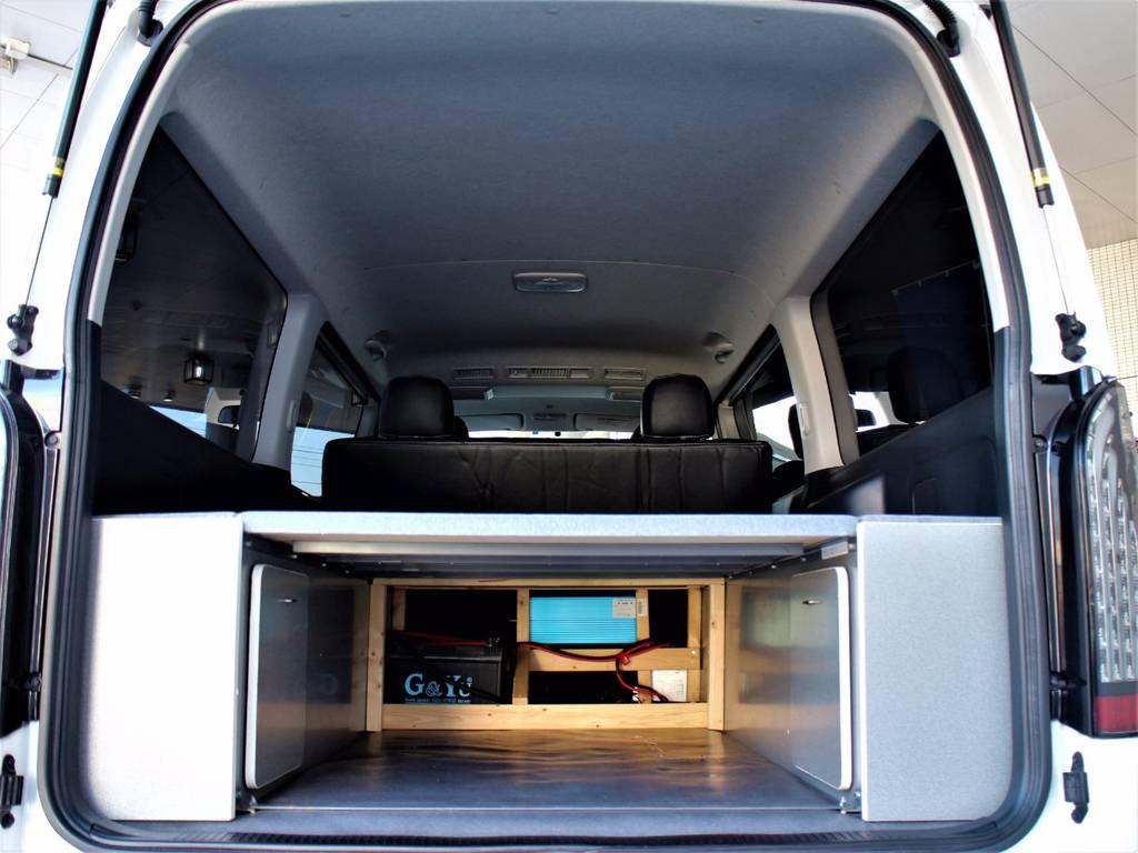ベットキットの下にも収納可能です!   トヨタ レジアスエース 3.0 スーパーGL ロングボディ ディーゼルターボ 3型ディーゼルターボ2WD