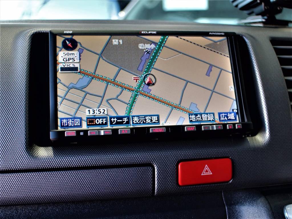 エクリプスHDDナビ!!   トヨタ レジアスエース 3.0 スーパーGL ロングボディ ディーゼルターボ 3型ディーゼルターボ2WD
