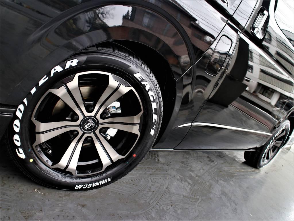 グッドイヤーイーグルナスカータイヤ! バルベロ17インチアルミホイール(FLEXオリジナルカラー)! | トヨタ ハイエースバン 2.8 スーパーGL ワイド ロング ミドルルーフ ディーゼルターボ 新型 ダークプライム