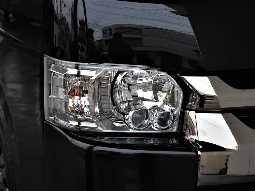 LEDヘッドライト! | トヨタ ハイエースバン 2.8 スーパーGL ワイド ロング ミドルルーフ ディーゼルターボ 新型 ダークプライム