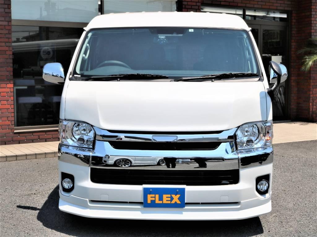 ハイエースの事ならFLEXハイエースさいたま店にお任せください!アフターサービスも頑張ります! | トヨタ ハイエース 2.7 GL ロング ミドルルーフ 新型 TSS 試乗車