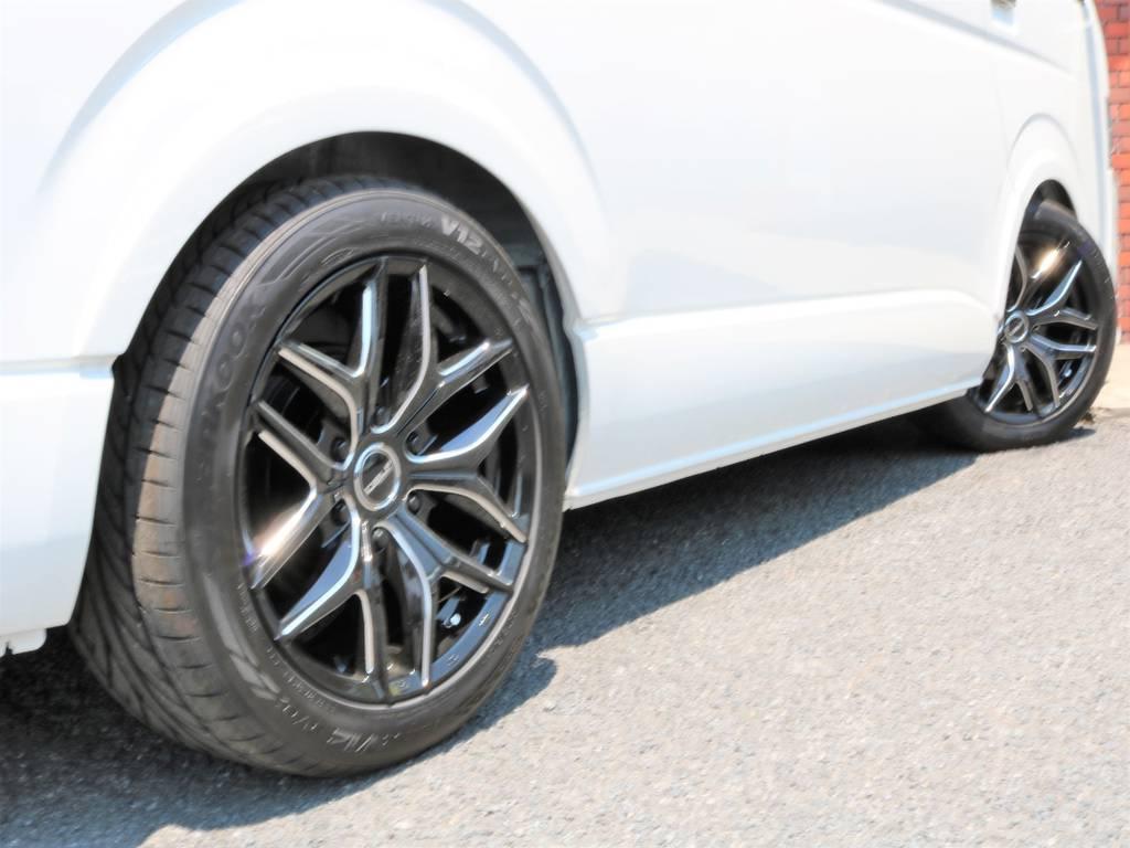 2インチローダウン済みです!2.1m制限の立体駐車場にもご入庫可能です! | トヨタ ハイエース 2.7 GL ロング ミドルルーフ 新型 TSS 試乗車
