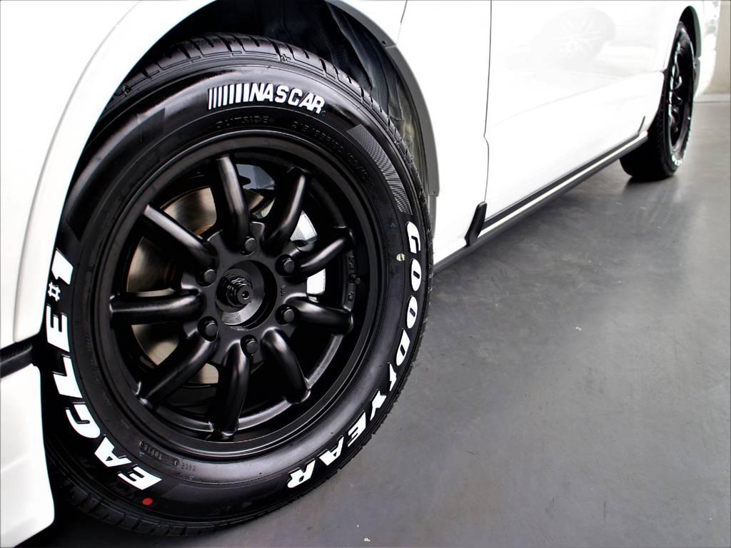 MC9 16インチアルミホイール! グッドイヤーイーグルナスカータイヤ! | トヨタ ハイエースバン 2.8 スーパーGL ダークプライム ロングボディ ディーゼルターボ 4WD