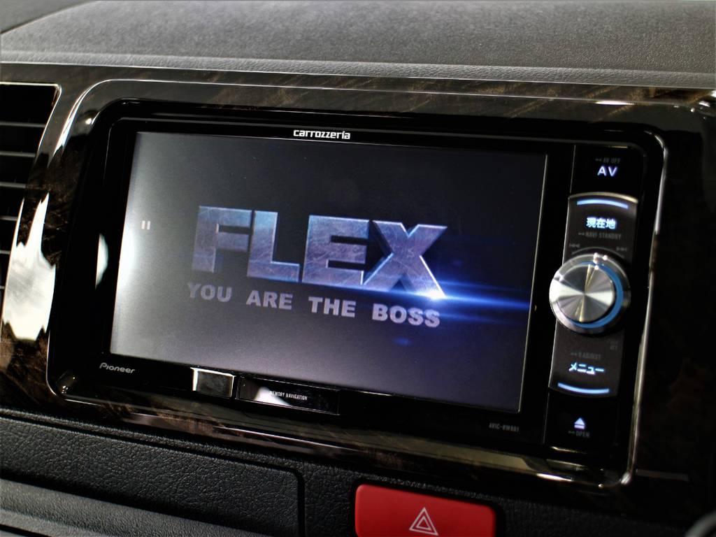 音楽録音・DVD再生・フルセグ・Bluetooth接続可! | トヨタ ハイエースバン 2.8 スーパーGL ダークプライム ロングボディ ディーゼルターボ 4WD