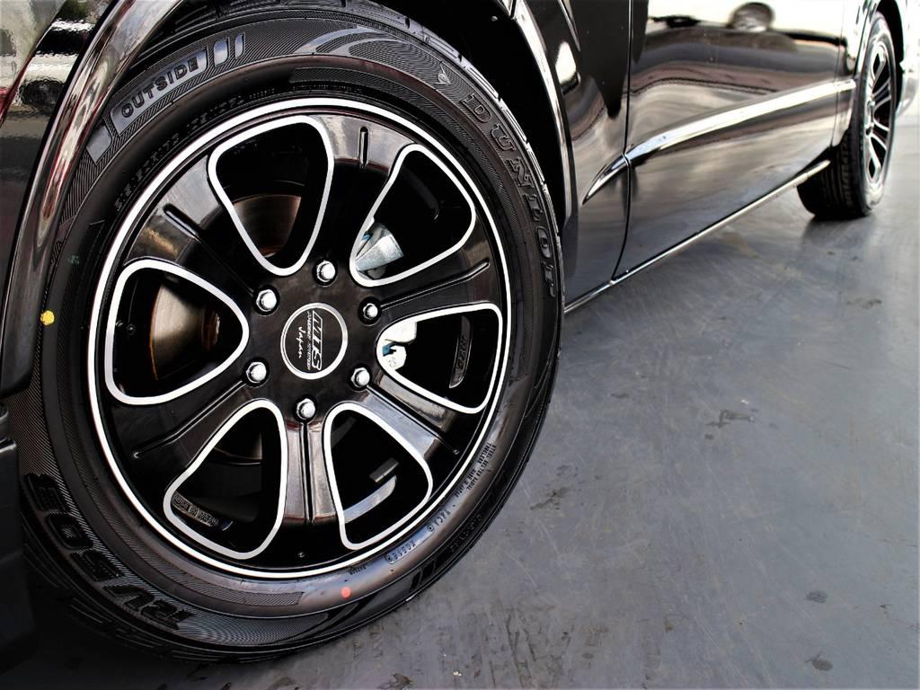 M-TECHNO17インチアルミホイール! ダンロップタイヤ! | トヨタ ハイエースバン 2.8 スーパーGL ロング ディーゼルターボ 新型 ダーク セーフティーセンス付