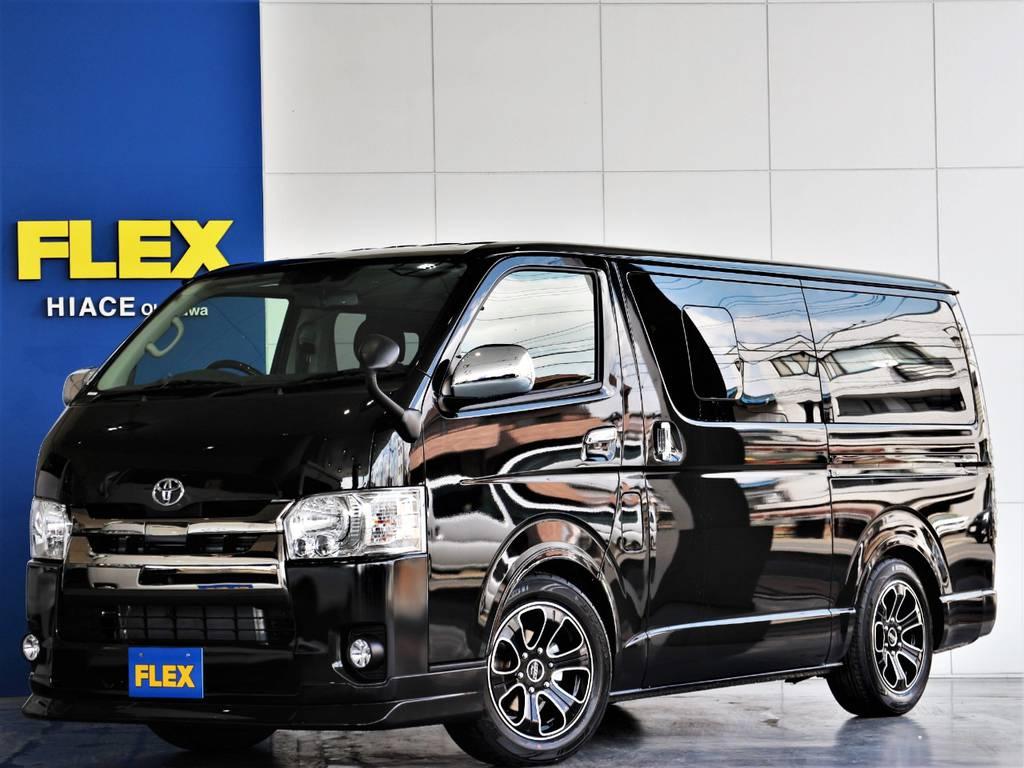 FLEXハイエースさいたま桶川店 お問い合わせはこちらまで 0487799122 | トヨタ ハイエースバン 2.8 スーパーGL ロング ディーゼルターボ 新型 ダーク セーフティーセンス付
