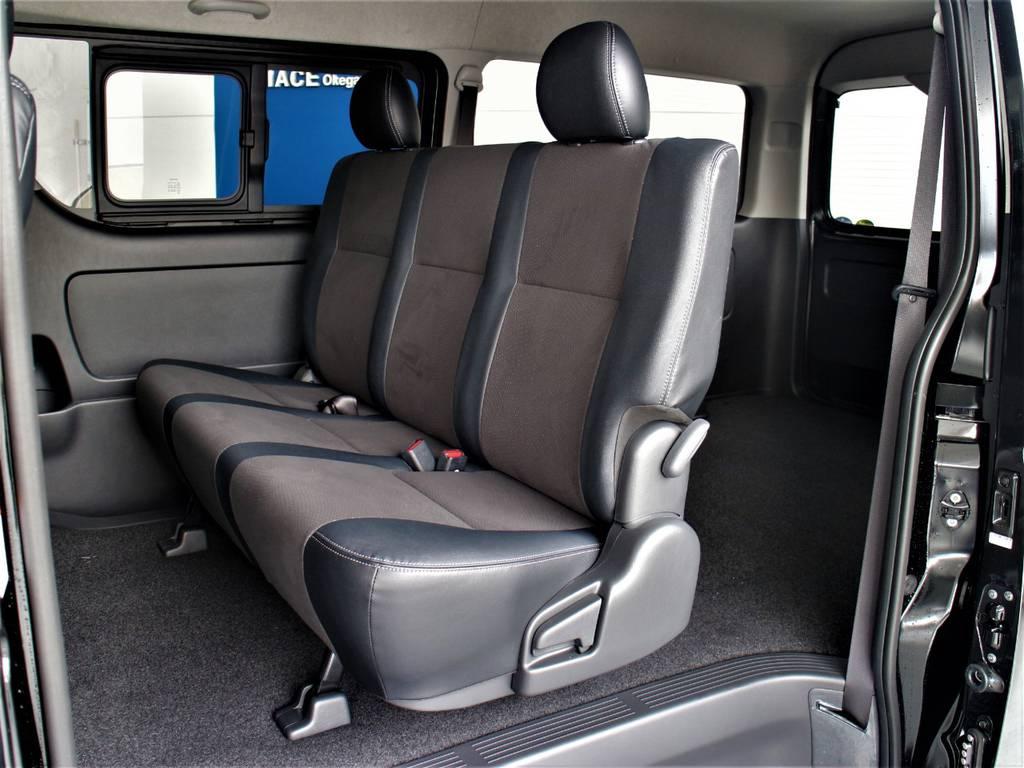 セカンドシートは3人定員です! | トヨタ ハイエースバン 2.8 スーパーGL ワイド ロング ミドルルーフ ディーゼルターボ ダークプライム トヨタセーフティ付小窓付