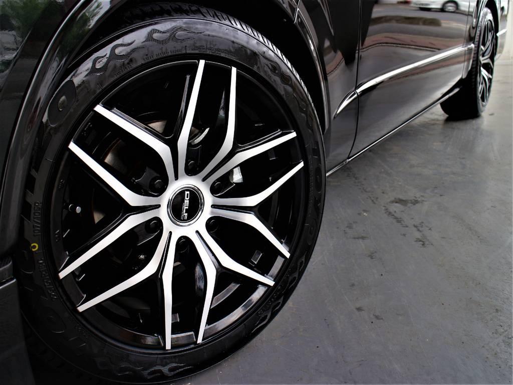 DELF01 18インチアルミホイール! TOYO H20タイヤ! | トヨタ ハイエースバン 2.8 スーパーGL ワイド ロング ミドルルーフ ディーゼルターボ ダークプライム トヨタセーフティ付小窓付