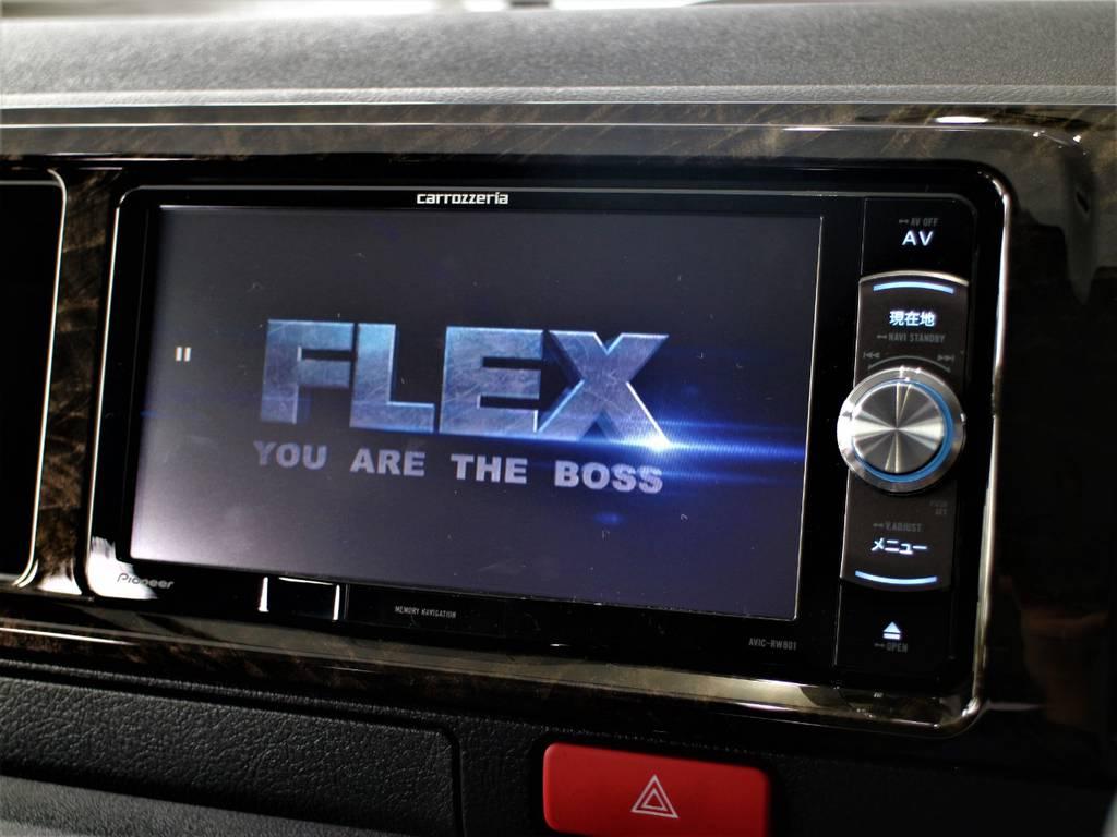 ※音楽録音・DVD再生・フルセグ・Bluetooth接続可! | トヨタ ハイエースバン 2.8 スーパーGL ワイド ロング ミドルルーフ ディーゼルターボ ダークプライム トヨタセーフティ付小窓付