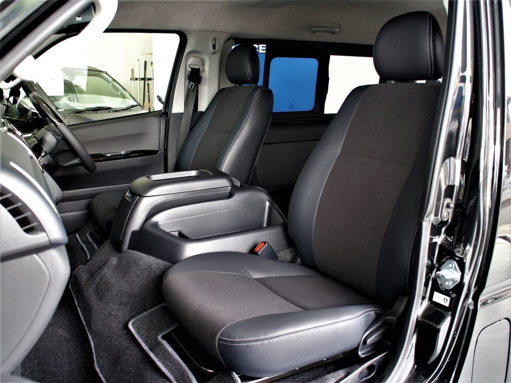 特別仕様車専用シートです! | トヨタ ハイエースバン 2.8 スーパーGL ワイド ロング ミドルルーフ ディーゼルターボ ダークプライム トヨタセーフティ付小窓付