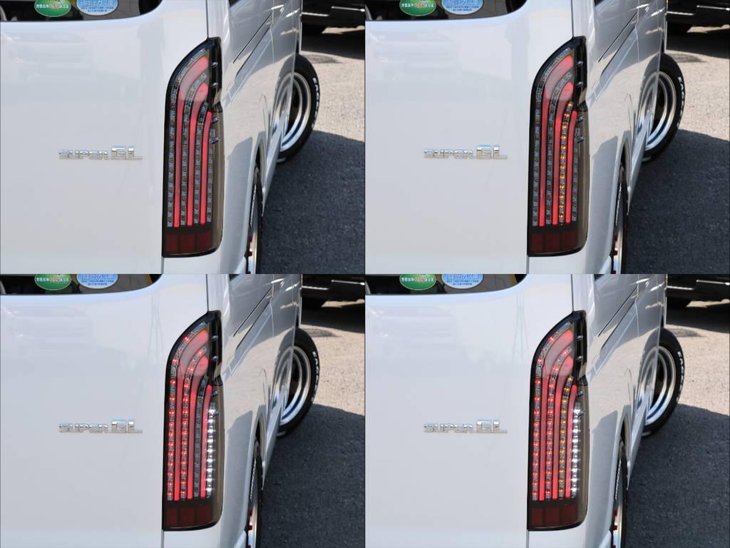 415コブラライトセイバーLEDテールライト(^^♪ | トヨタ ハイエースバン 2.8 スーパーGL ワイド ロング ミドルルーフ ディーゼルターボ 新型 ダーク TSS