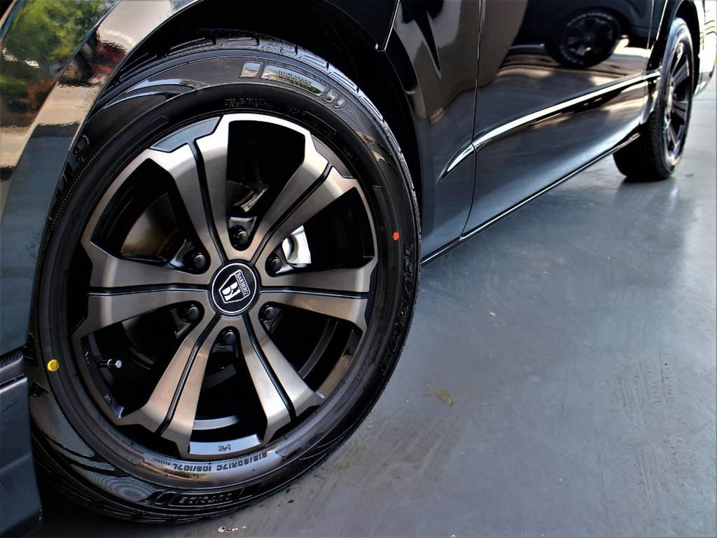 バルベロ17インチアルミホイール! ダンロップタイヤ! | トヨタ ハイエース 2.7 GL ロング ミドルルーフ