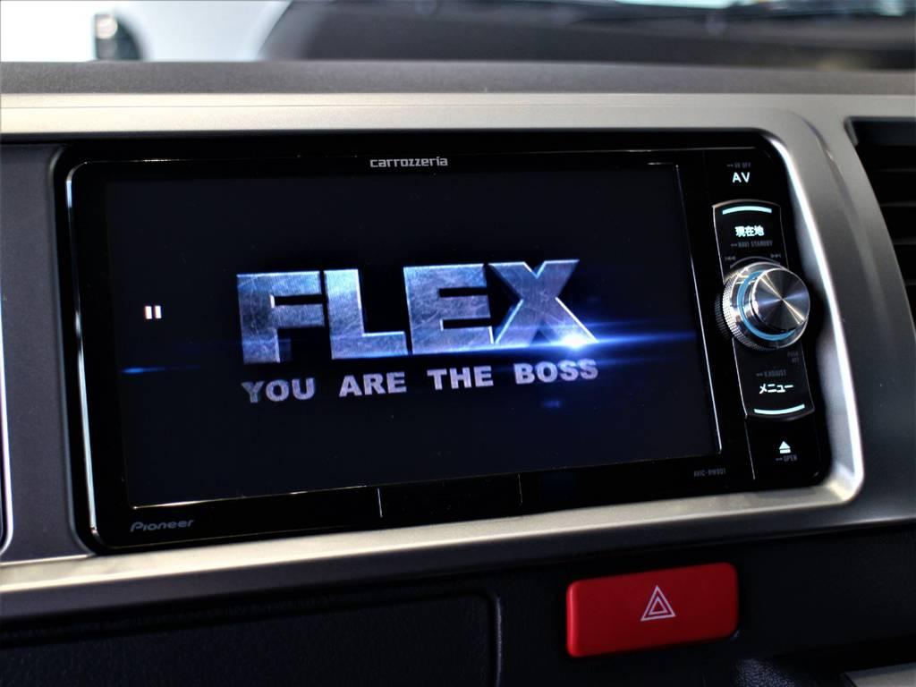 ※音楽録音・DVD再生・フルセグ・Bluetooth接続可! | トヨタ ハイエース 2.7 GL ロング ミドルルーフ