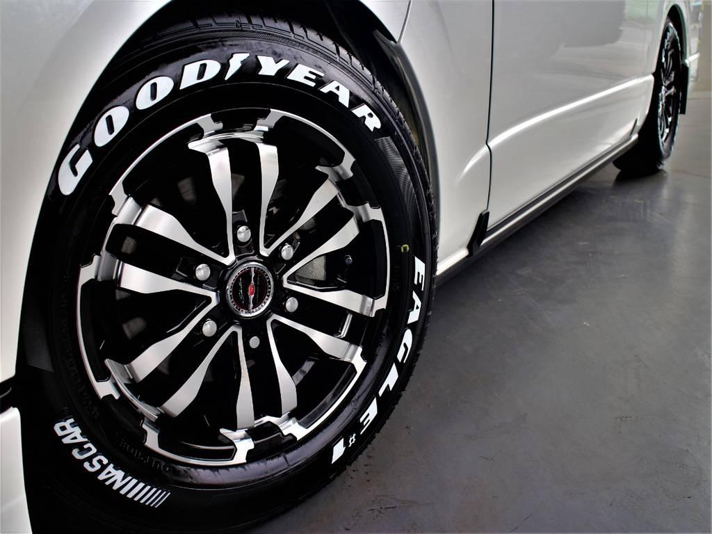 新品シャレン16インチアルミホイール! グッドイヤーイーグルナスカータイヤ! | トヨタ ハイエースバン 2.0 スーパーGL ダークプライム ロングボディ 4型6速AT車
