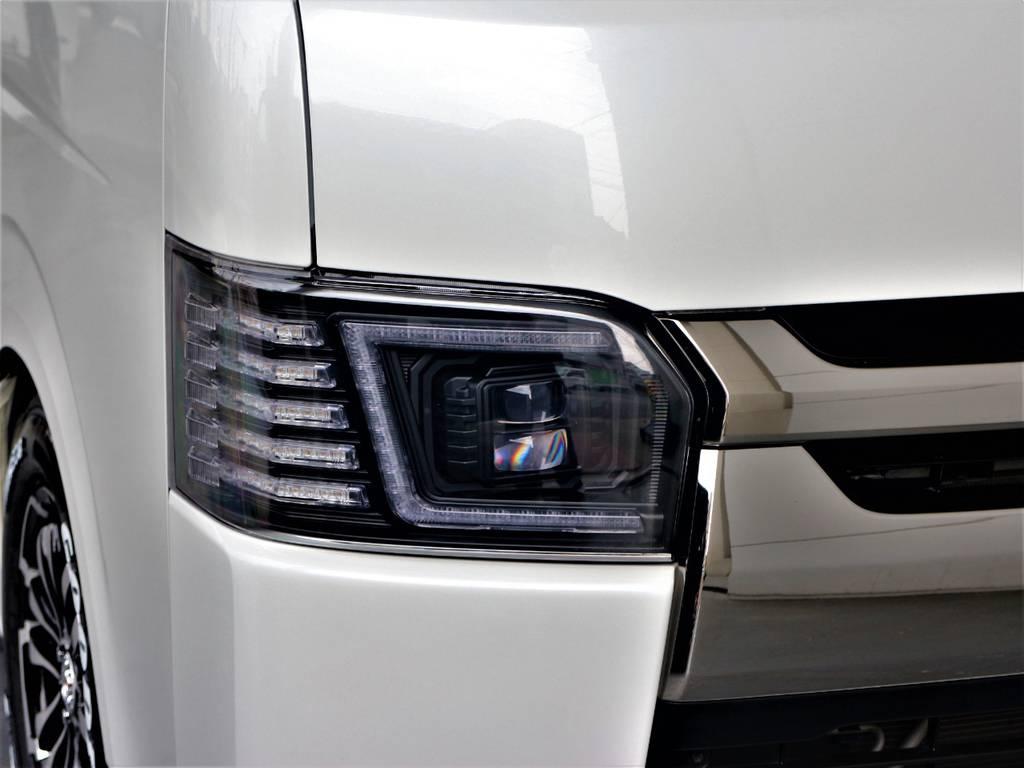 コプラスLEDヘッドライト! | トヨタ ハイエースバン 2.0 スーパーGL ダークプライム ロングボディ 4型6速AT車