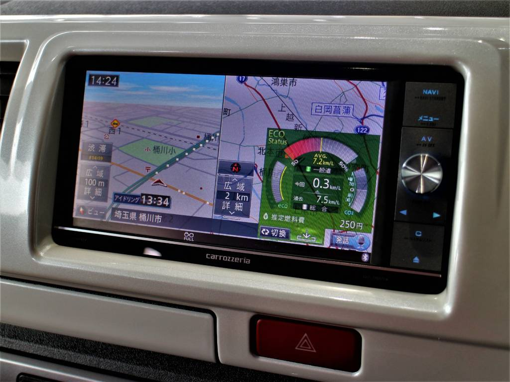 カロッツェリアナビ!※音楽録音・DVD再生・フルセグ・Bluetooth接続可! | トヨタ ハイエースバン 2.0 スーパーGL ダークプライム ロングボディ 4型6速AT車
