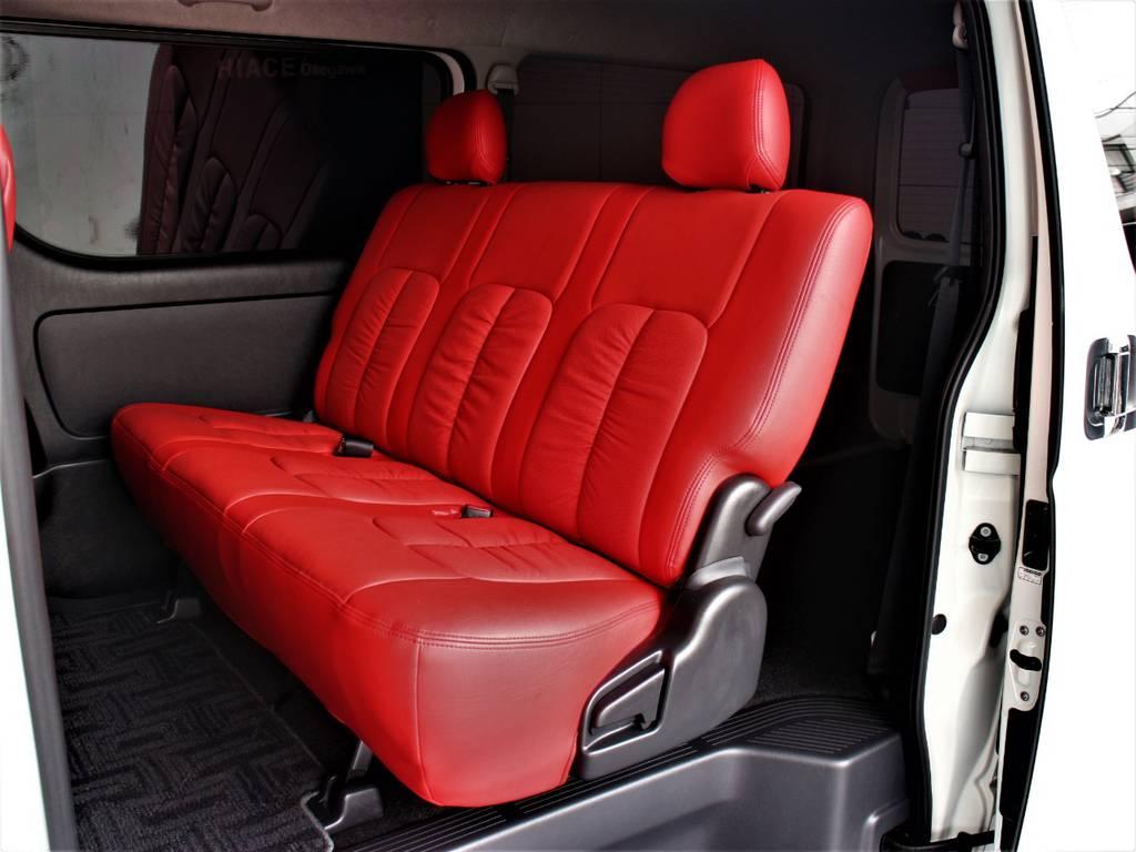 セカンドシートは3人定員です! | トヨタ ハイエースバン 2.0 スーパーGL ダークプライム ロングボディ 4型6速AT車