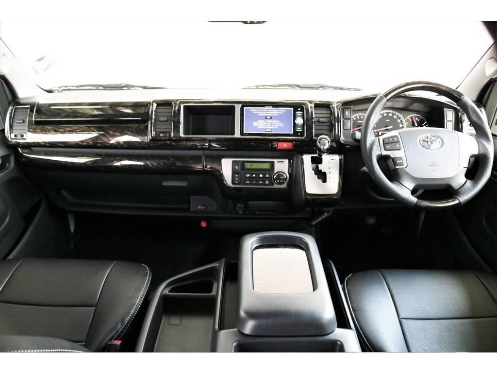 インテリアパネル! インテリアシフトノブ! インテリアコンビステアリング!   トヨタ ハイエース 2.7 GL ロング ミドルルーフ 4WD