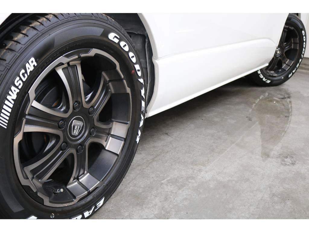 オリジナルディープスアルミホイール!!   トヨタ ハイエース 2.7 GL ロング ミドルルーフ 4WD