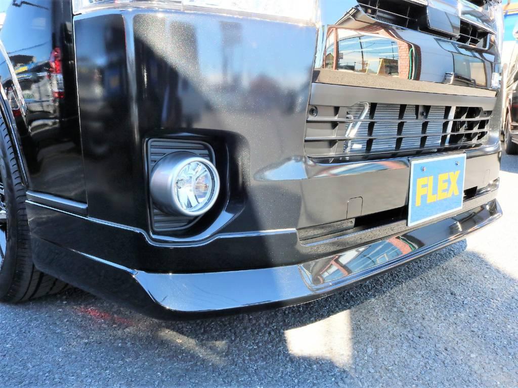 フレックスオリジナルDelfinoLineリップスポイラーをインストールしました! | トヨタ ハイエースバン 2.8 スーパーGL 50TH アニバーサリー リミテッド ロングボディ ディーゼルターボ 50th