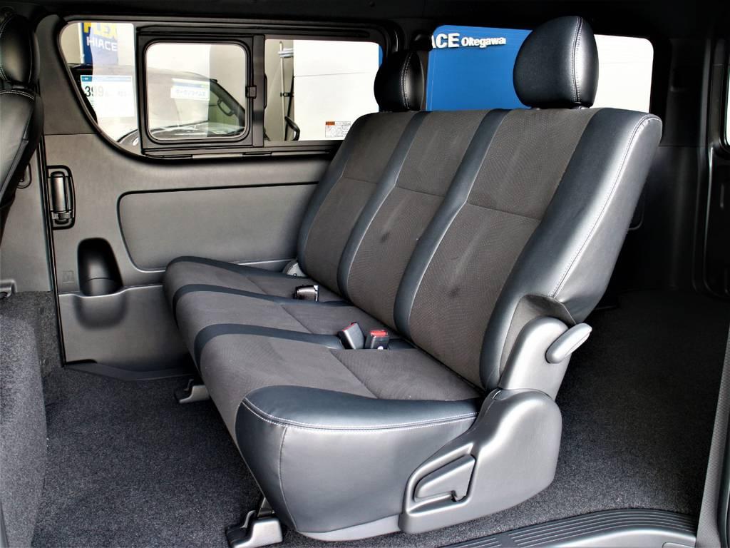 セカンドシートは3人定員です! | トヨタ ハイエースバン 2.7 スーパーGL ダークプライムⅡ ワイド ミドルルーフ ロングボディ 4WD
