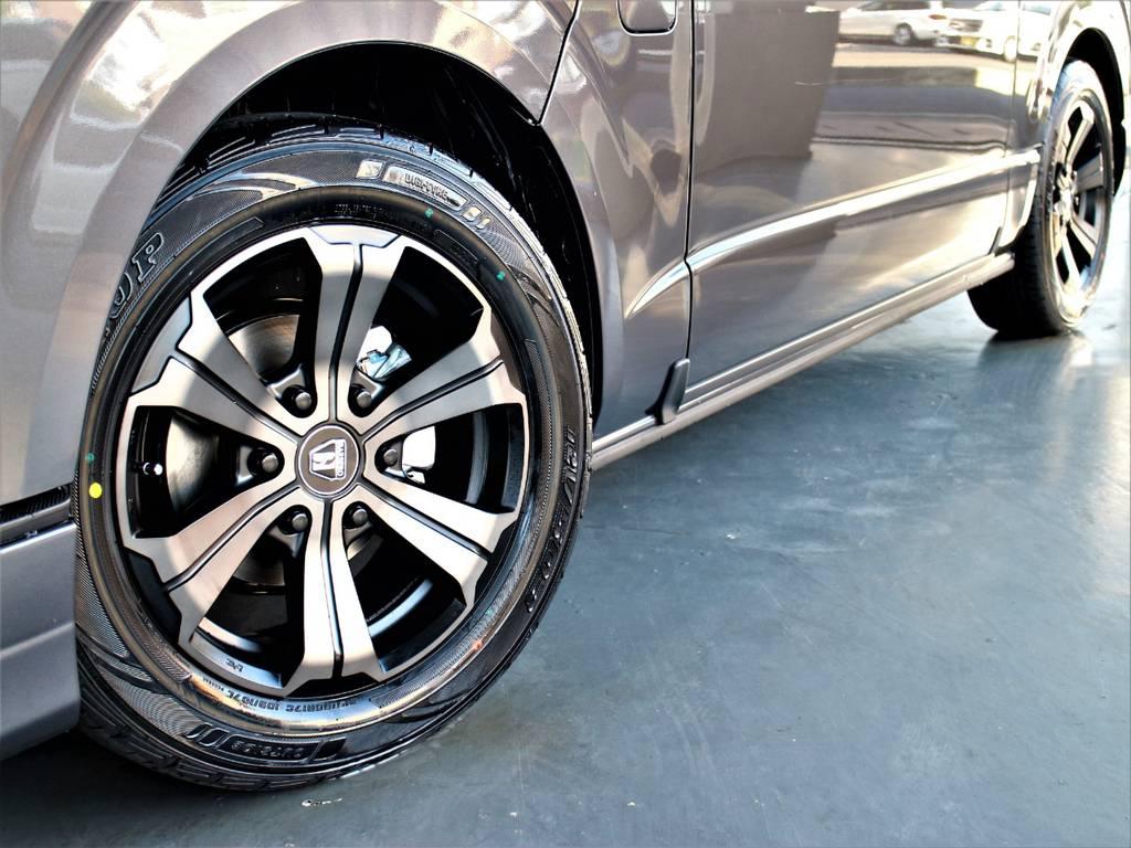 バルベロ17インチアルミホイール! ダンロップタイヤ! | トヨタ ハイエースバン 2.7 スーパーGL ダークプライムⅡ ワイド ミドルルーフ ロングボディ 4WD