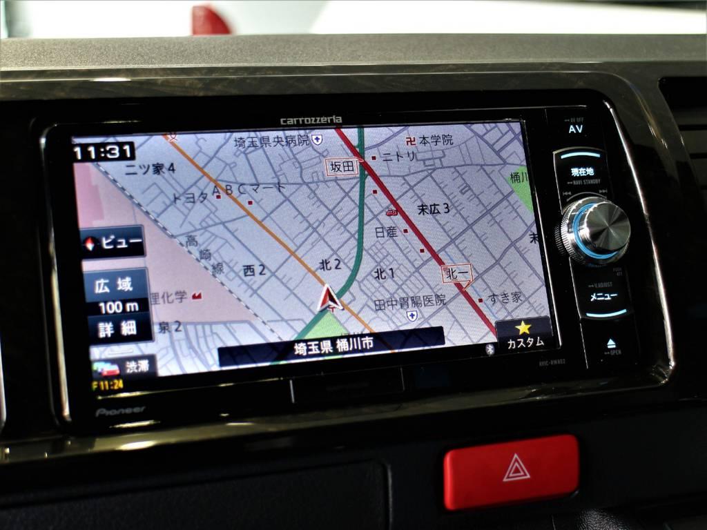 カロッツェリアSDナビ! | トヨタ ハイエースバン 2.7 スーパーGL ダークプライムⅡ ワイド ミドルルーフ ロングボディ 4WD