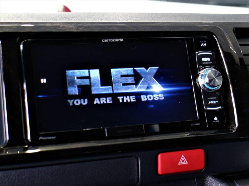 ※音楽録音・DVD再生・フルセグ・Bluetooth接続可! | トヨタ ハイエースバン 2.7 スーパーGL ダークプライムⅡ ワイド ミドルルーフ ロングボディ 4WD