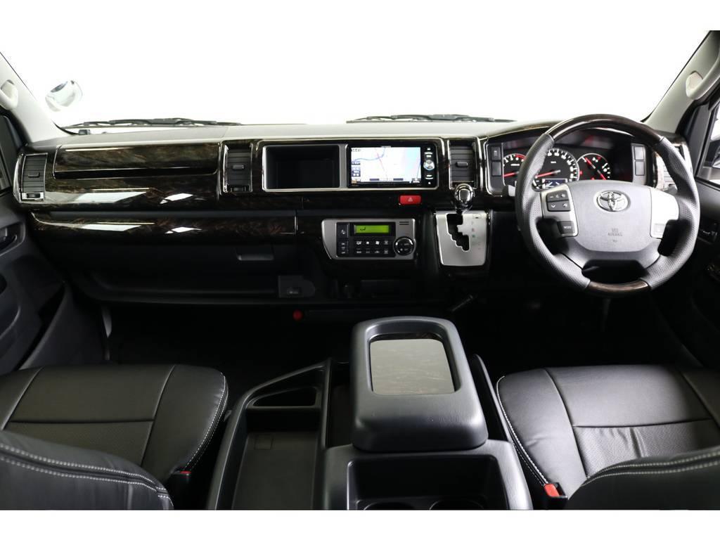 見晴らし良好です!! | トヨタ ハイエース 2.7 GL ロング ミドルルーフ TSS付 ナビパッケージ